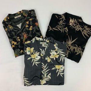 Tommy Bahama Silk Men's Hawaiin Three Shirt Bundle
